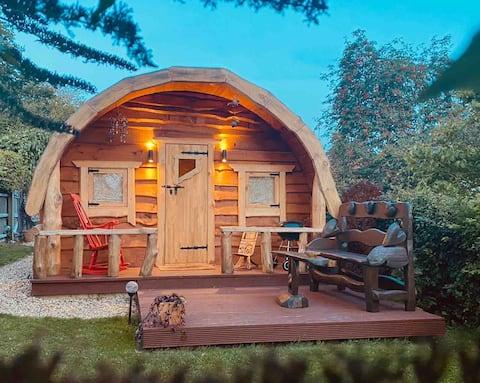 Una casa de hobbits mágica