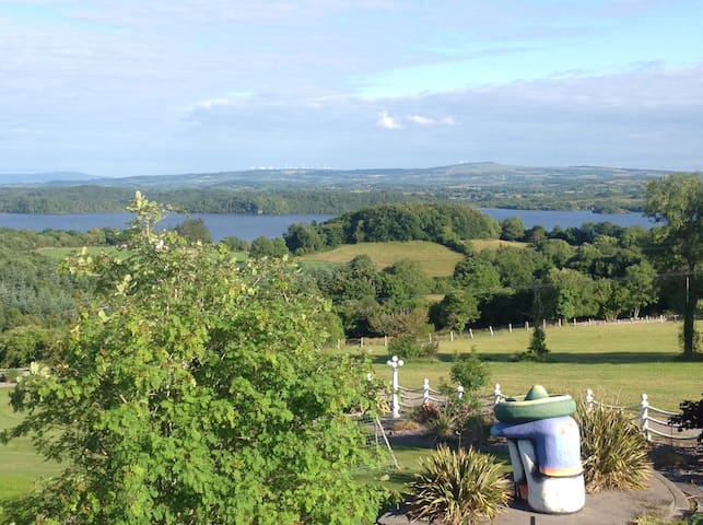 Looking out on Lough Gill and surrounding countryside.