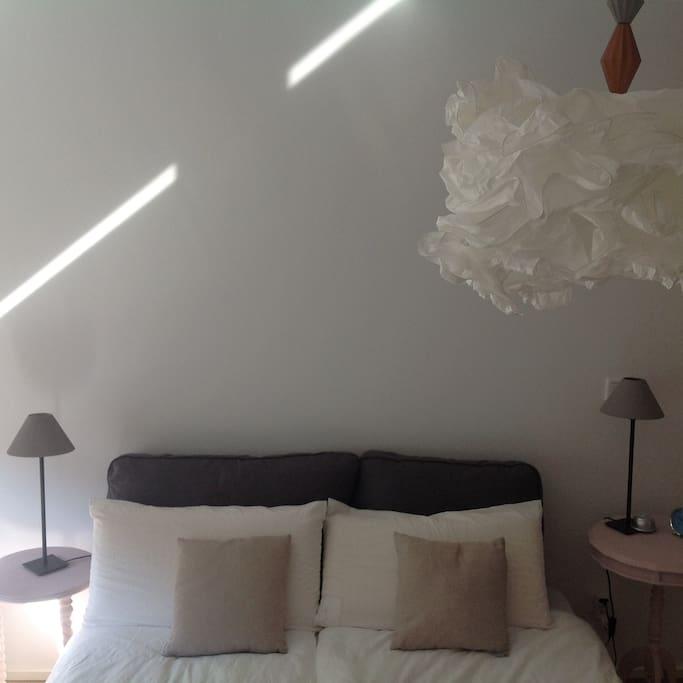 Schlafzimmer mit 160cm breites Doppelbett.