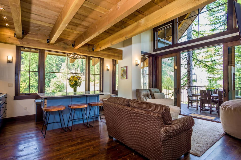 This spectacular luxury vacation rental showcases indoor outdoor living