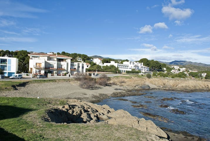 Nice and bright apartment located on the 1st line of the sea, 300 m. from the beach of Puerto and the commercial area.
