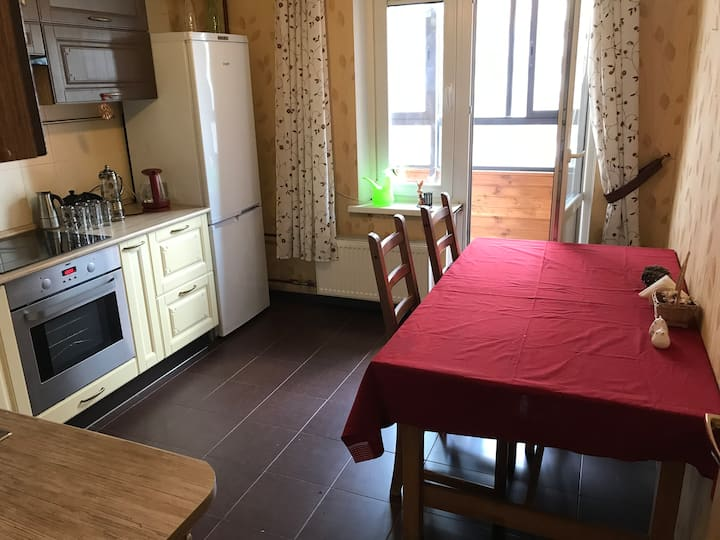 Large flat for 3 guests