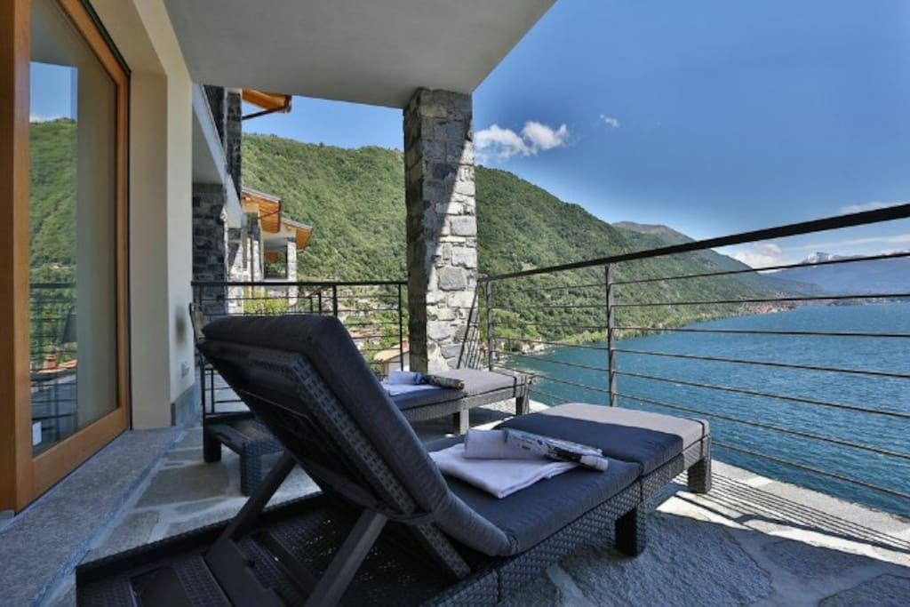 View from the private balcony