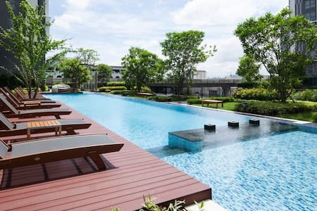 """""""Final Pro""""1min to BTS On-Nut N""""1BR-EE6(pool view) - Bangkok"""
