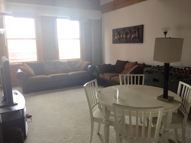 The Living Room and Common Area with Playstation and TV