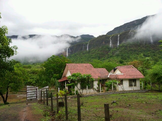 Mountain facing bungalow in Karjat
