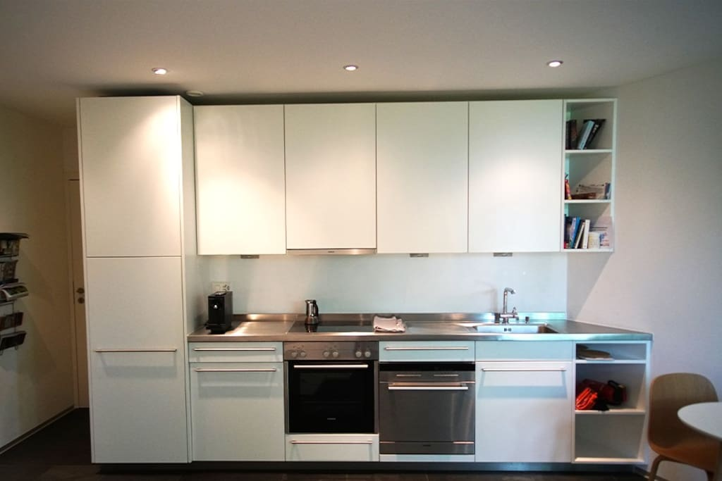 Main space with kitchen