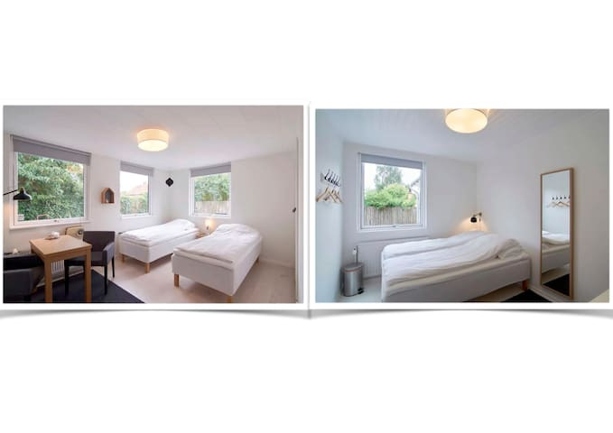 2 rooms combined, close to both Cph City & Airport