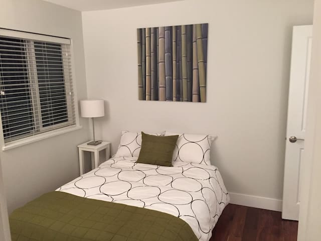 Furnished bedroom in spacious home