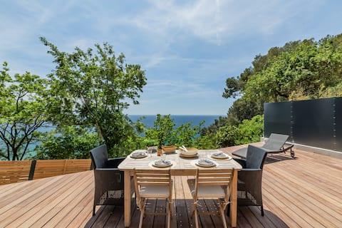 """Cottage """"Little Paradise"""" SEA VIEW large terrace"""