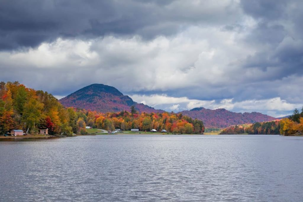 View of lake from kayak