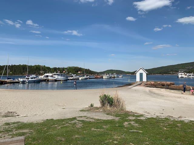 Sætre havn, Oslofjordens perle. Stor veranda