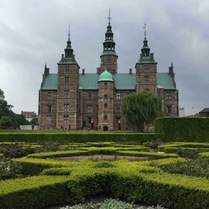 Rosenborg Castle in Kings Garden just opposite the apartment.