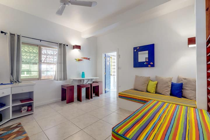 Tropical studio with partial AC & WiFi - 5 minutes to water taxis and the beach!