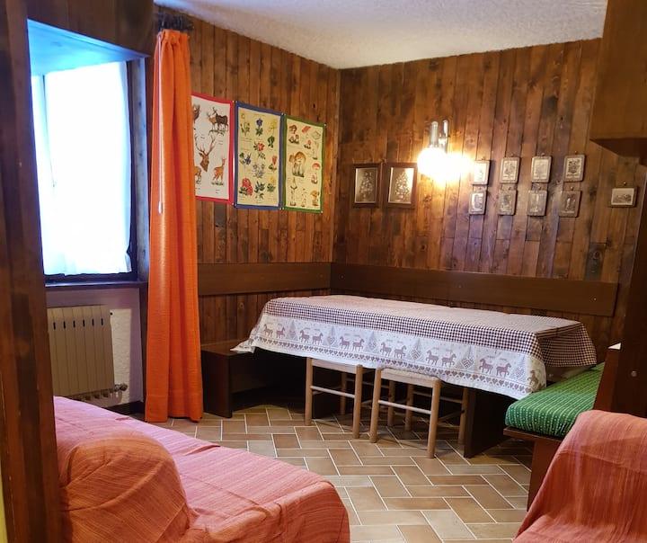 Ski-to-door, 2 bedrooms apartment in Folgarida