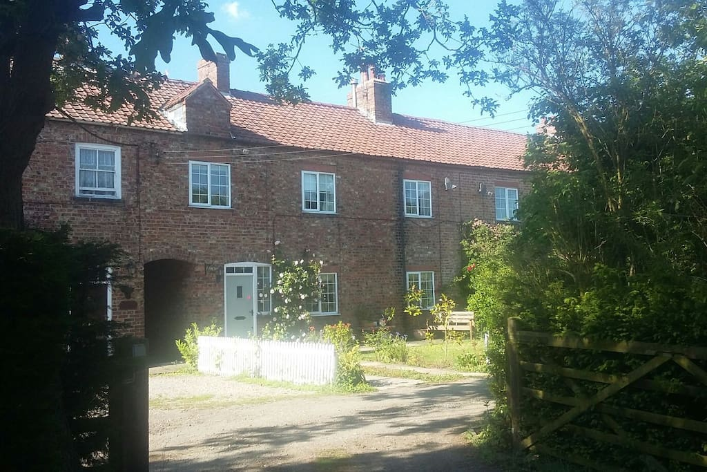 our cottage is part of a row of four old workers cottages