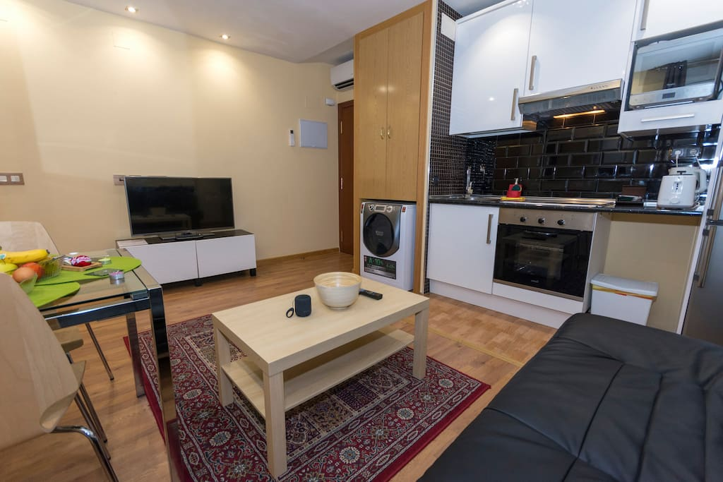Living Room with Full Kitchen
