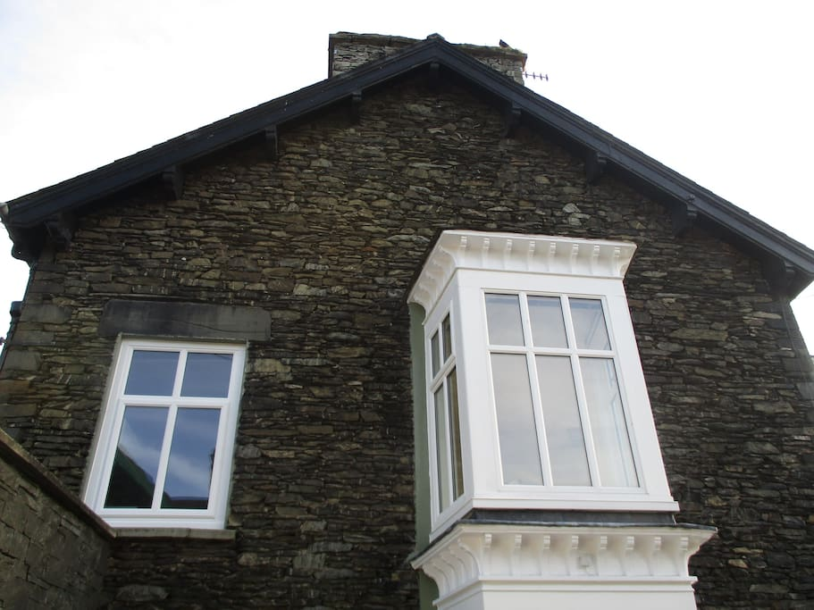 The Side Exterior showing the Kitchen Breakfast Room and Side Bay Window to Reception Room.