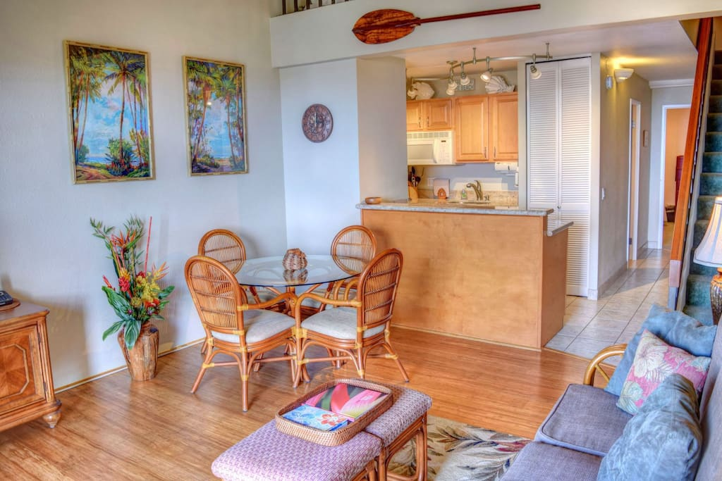Great dining area open to kitchen