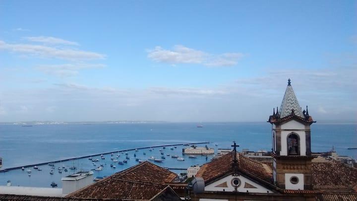 Vista maravilhosa da Bahia de todos os Santos Pelo