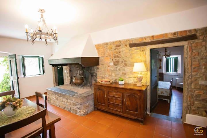 Alessandra-with beautiful fireplace