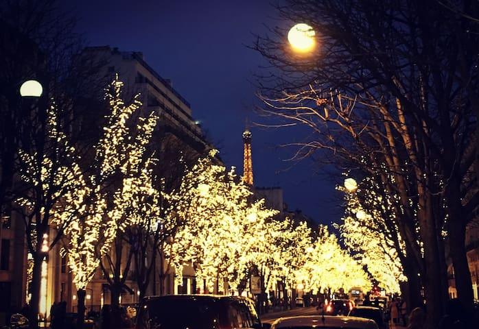 Champs-Élysées Golden triangle flat with mezzanine