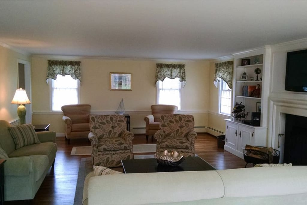 Serving as the social heart of the home, the main living area provides plenty of comfortable seating.
