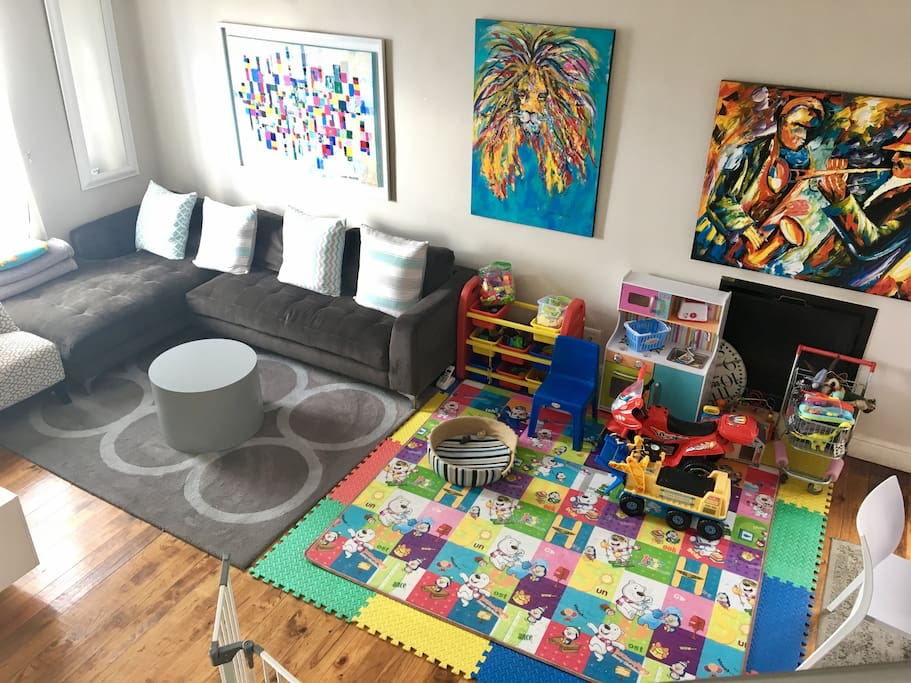 TV room and child's play area