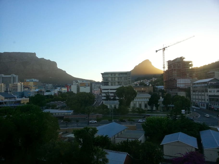 View from the apartment of Table Mountain & Signal Hill