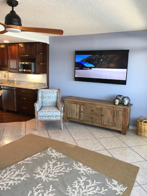 Large flat-screen TV's in living and in each bedroom