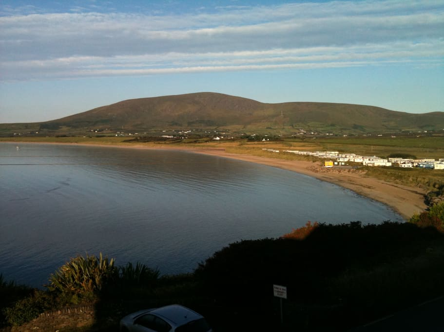 Beautiful Ventry beach - view from sitting room