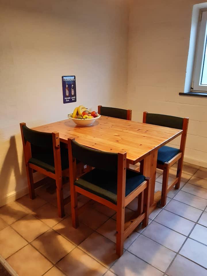 2-værelses lejlighed på Midtfyn nær Egeskov.