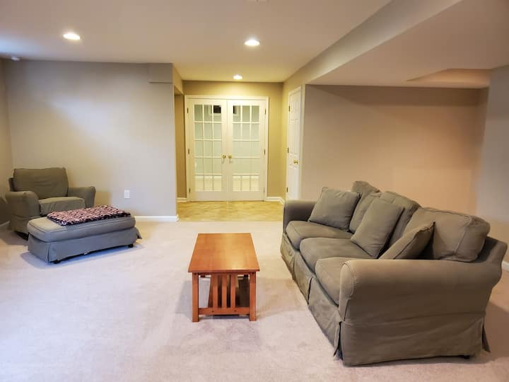 Recently renovated basement apartment