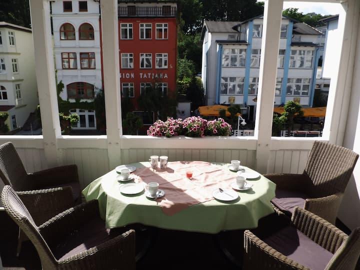Strandnah-mit Balkon für 4- ( FW 5)- Wilhelmstr.20