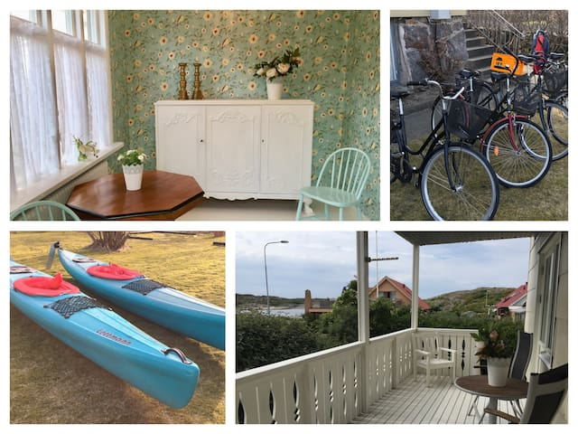 Apartment-Öckerö-Lovely location-Kayaks-Bicycles