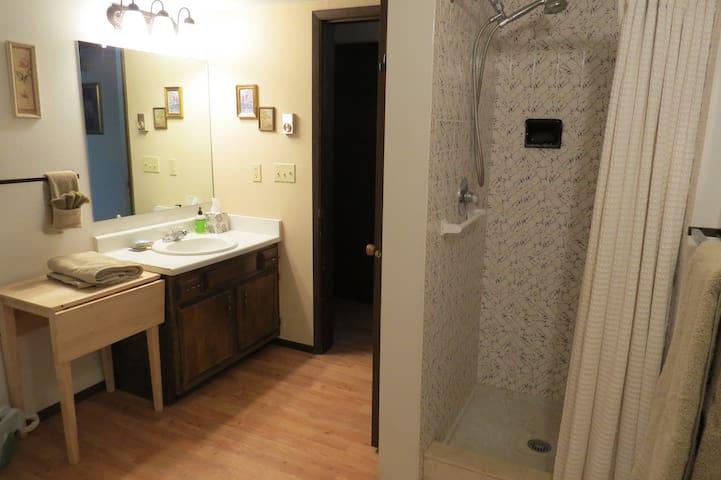 Shower for Cottonwood room.