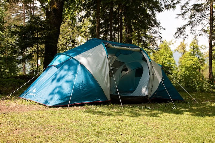 Family rental equpped tent.