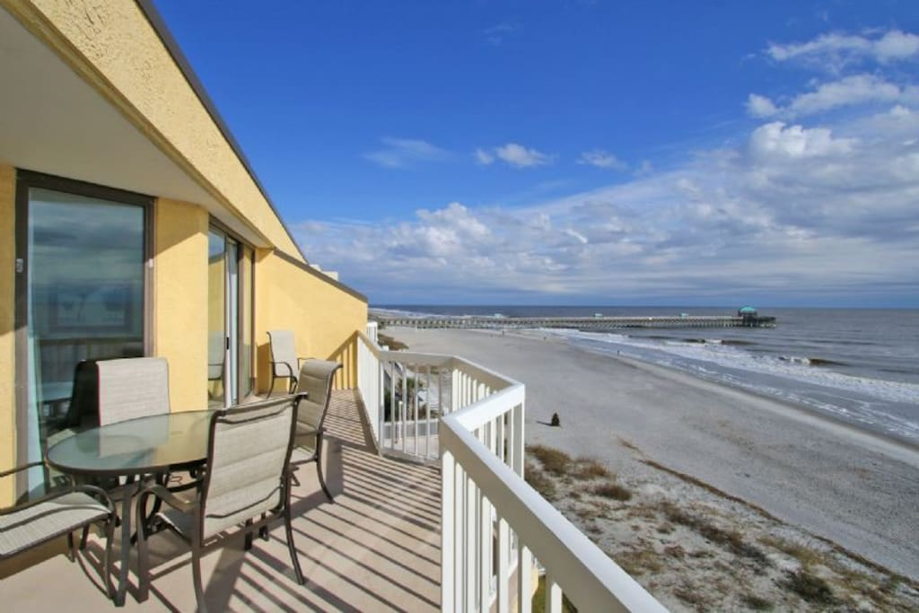 Oceanfront Balcony - Folly Pier View