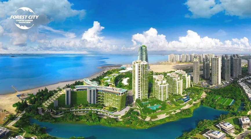Forest City森林城市是个鲜花盛开靠近新加坡旁的海边城市. LEGO、Kitty Near