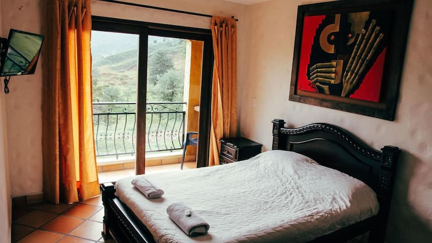Superior room with balcony at lake view hostel
