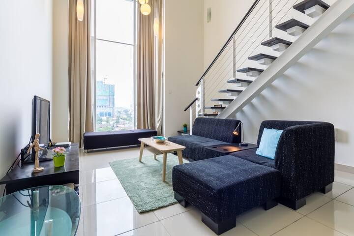 Homely feel duplex ,kl,scott,wifi, - Kuala Lumpur - Loft