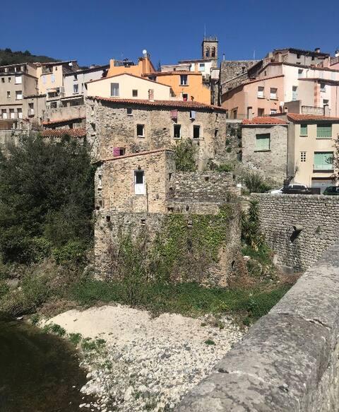 Uroczy dom z widokiem na rzekę