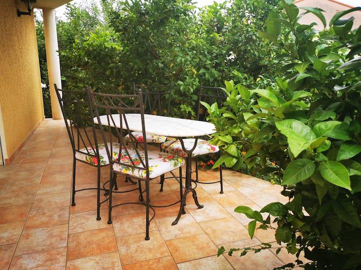 Cœur de Millas: terrasse, jardin et parking privé