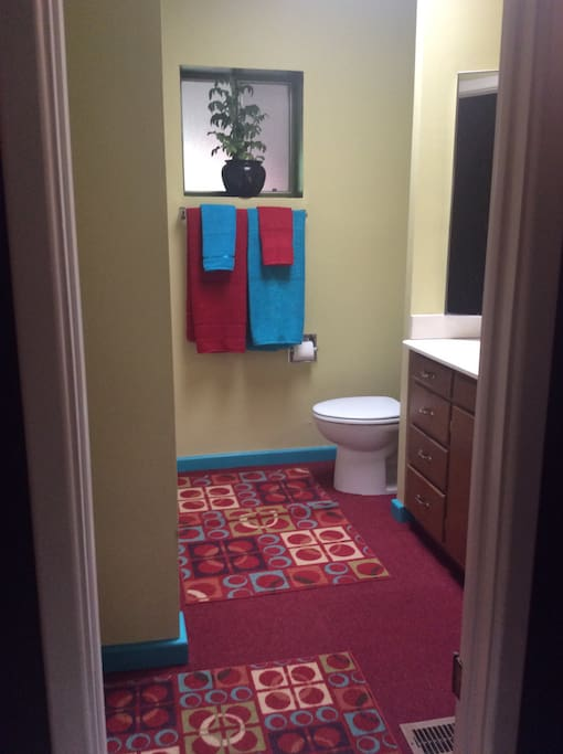 Bathroom right next to your room.
