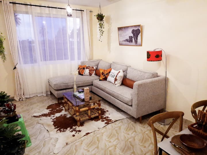 African Style COSY 1 BR, Nyali, WIFI, near beach