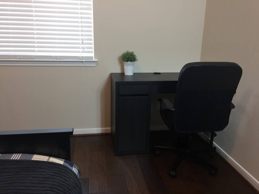 Desk and comfortable chair