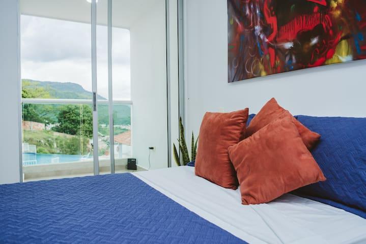 Apartaestudio, cómodo, tranquilo,  piscina San Gil
