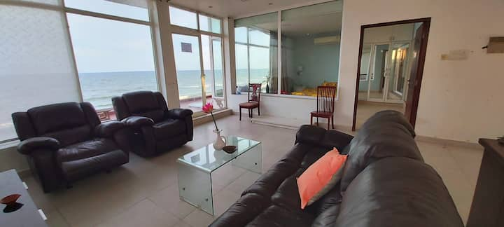 Peace beach:  Beachfront 1bhk fully AC villa