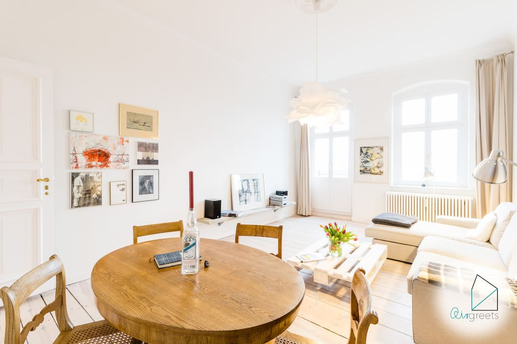 The apartment overall has very unique & individual design and offers you a comfy retreat in Berlin.