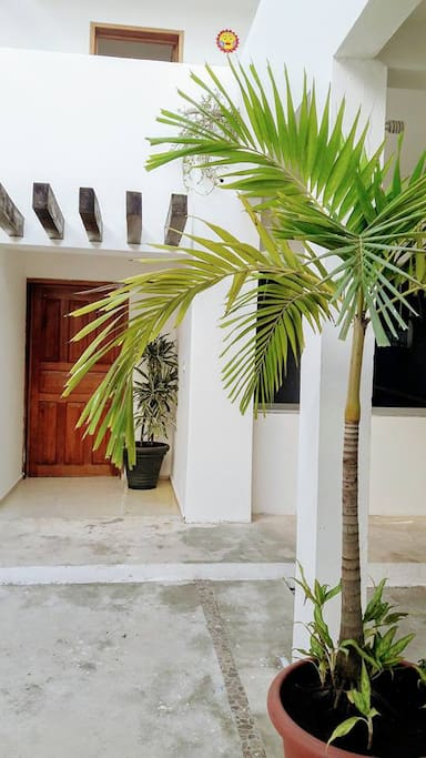 View of the entrance to our sister property Casa Galatea on the first floor. You can rent both properties for larger families or group of friends.